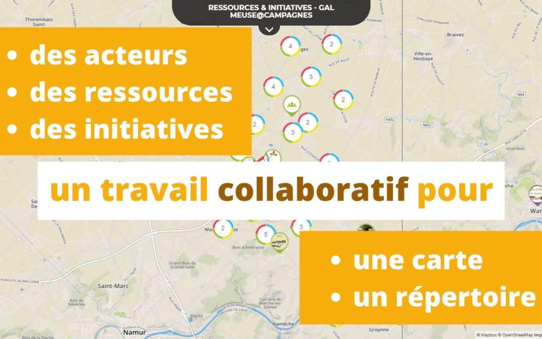 Carte des ressources et initiatives du territoire